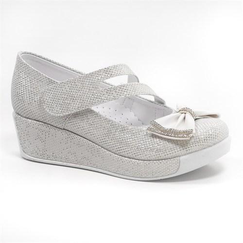 Sanbe Kız Çocuk Taşlı Dolgu Topuk Ayakkabı - 415 H 1316 Çupra Sedef