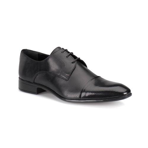 Down Town Bmk-250R M 1602 Siyah Erkek Deri Ayakkabı