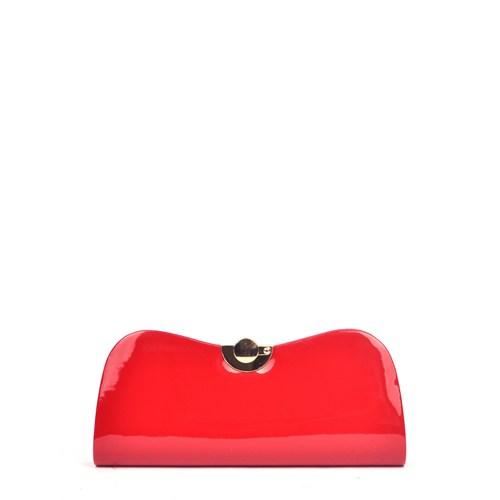 Simalore 8009-10 Kırmızı-Rugan Abiye Çanta