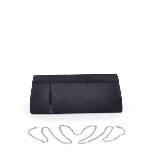 Simalore 8002-20 Kumaş-Siyah Abiye Çanta