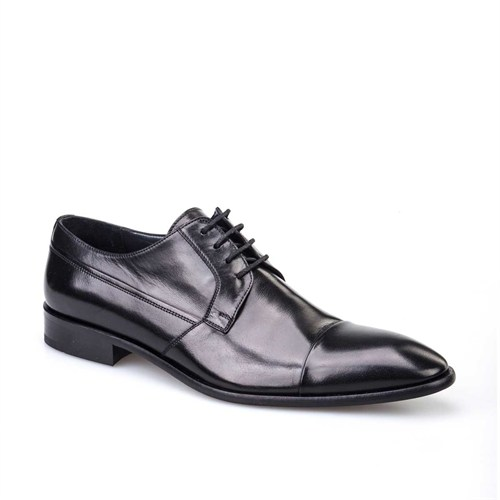 Cabani Klasik Erkek Ayakkabı Siyah Buffalo Deri