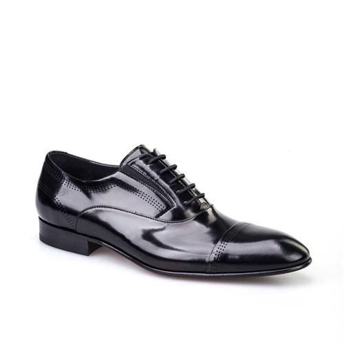 Cabani Klasik Erkek Ayakkabı Siyah Açma Deri