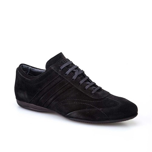 Cabani Günlük Erkek Ayakkabı Siyah Süet