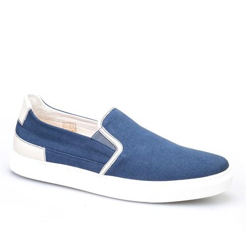 Cabani Bağcıksız Sneaker Erkek Ayakkabı Gri Keten
