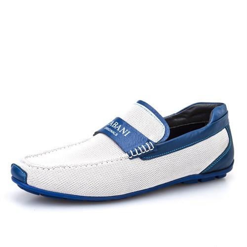 Cabani Kemerli Günlük Erkek Ayakkabı Mavi Deri