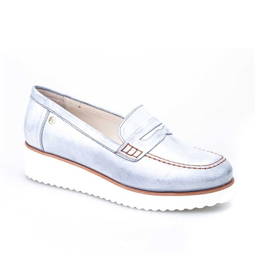 Cabani Kadın Ayakkabı Mavi Deri