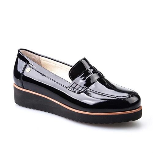 Cabani Kadın Ayakkabı Siyah Rugan