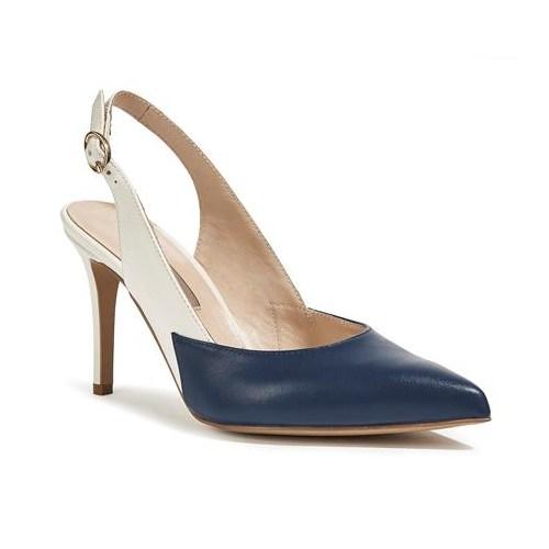 Desa Collection Karine Kadın Abiye Ayakkabı Lacivert Beyaz