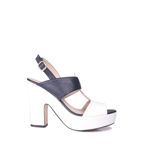 Loggalin 520905 031 460 Kadın Lacivert Beyaz Platform Ayakkabı