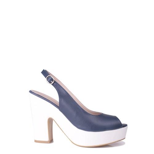 Loggalin 520906 031 460 Kadın Lacivert Beyaz Platform Ayakkabı