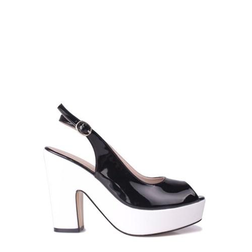 Loggalin 520906 031 060 Kadın Siyah Beyaz Platform Ayakkabı