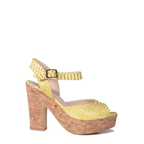 Loggalin 520908 031 128 Kadın Sarı Platform Ayakkabı