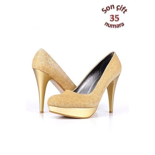 Loggalin 781700 031 725 Kadın Gold Platform Ayakkabı