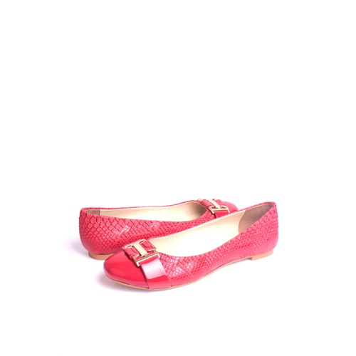Loggalin 222018 031 555 Kadın Kırmızı Babet