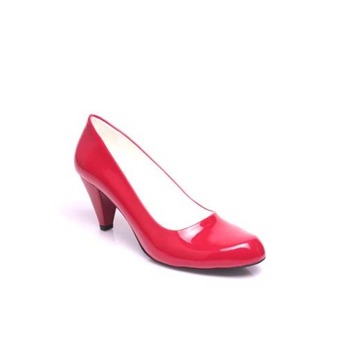 Loggalin 580720 559 Kadın Kırmızı Rugan Ayakkabı