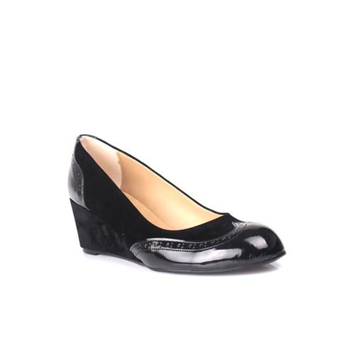 Loggalin 580070 031 027 Kadın Siyah Dolgu Topuk Ayakkabı