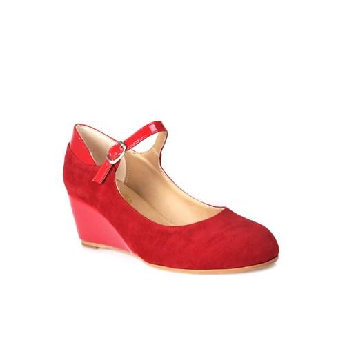 Loggalin 580075 031 527 Kadın Kırmızı Dolgu Topuk Ayakkabı
