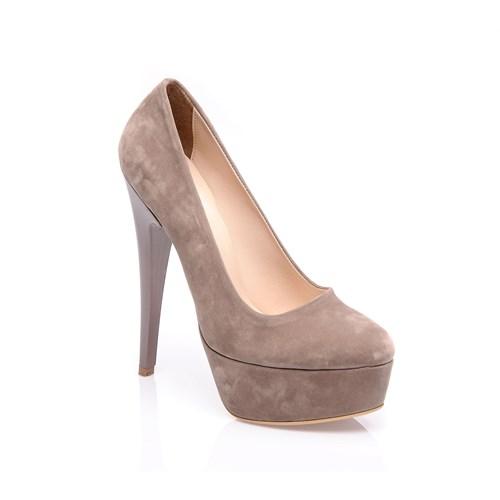 Sothe Mas-008 Vizon Kadın Platformlu Ayakkabı