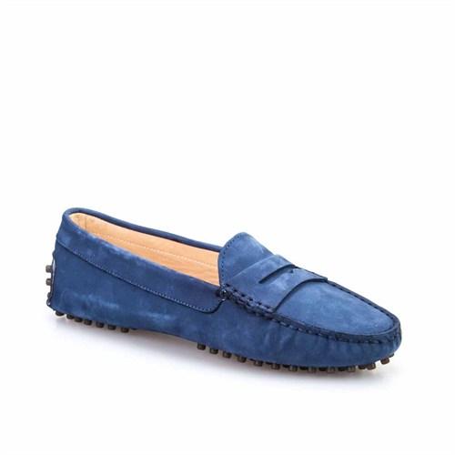Cabani Kadın Ayakkabı Mavi Nubuk