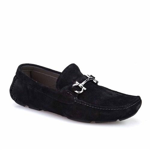 Cabani Tokalı Günlük Erkek Ayakkabı Siyah Süet