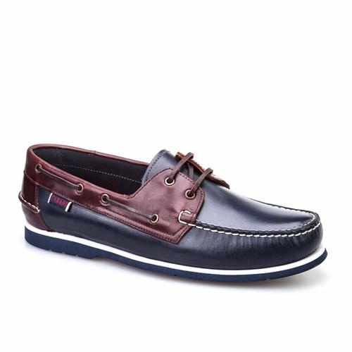 Cabani Marin Tekne Günlük Erkek Ayakkabı Bordo Deri