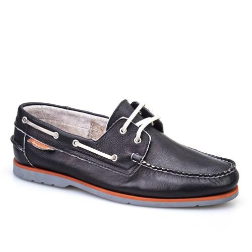Cabani Marin Tekne Günlük Erkek Ayakkabı Siyah Nubuk