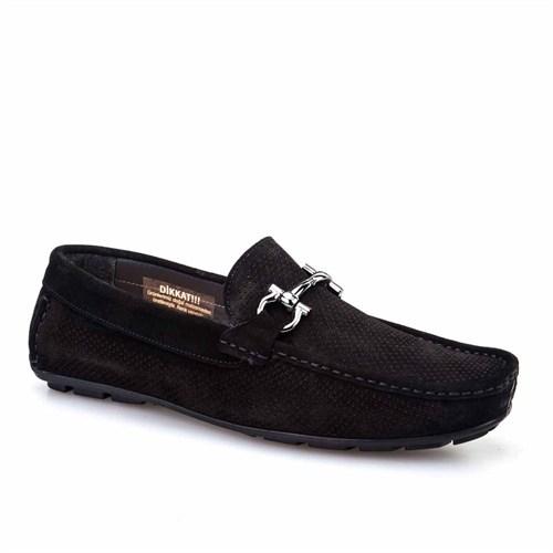 Cabani Lazerli Makosen Günlük Erkek Ayakkabı Siyah Süet