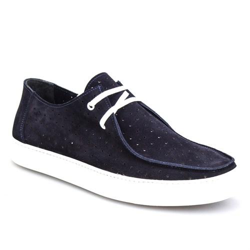 Cabani Lazerli Sneaker Erkek Ayakkabı Lacivert Süet