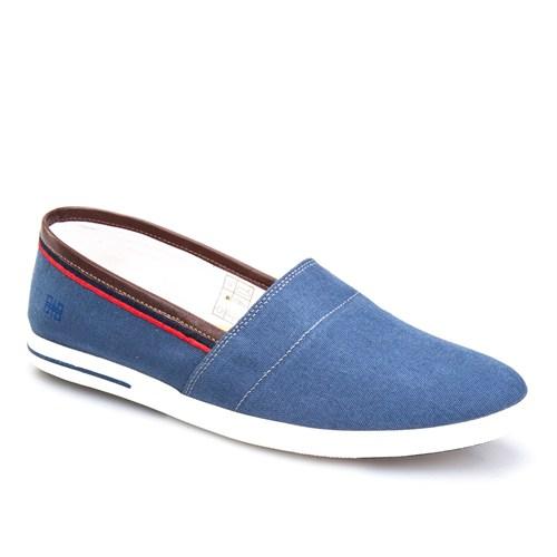 Cabani Bağcıksız Günlük Erkek Ayakkabı Mavi Keten