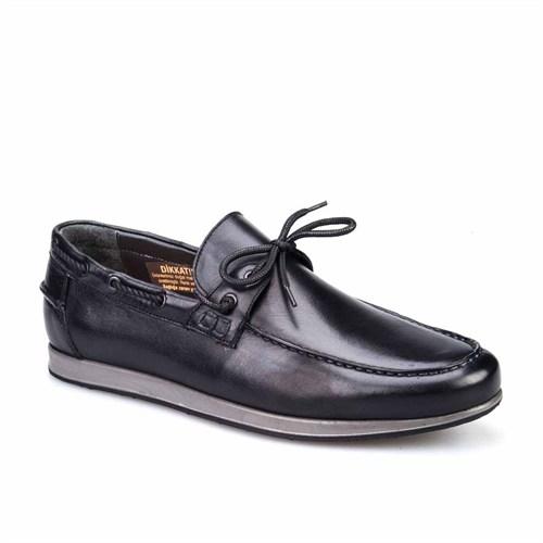 Cabani Günlük Erkek Ayakkabı Siyah Kırma Deri