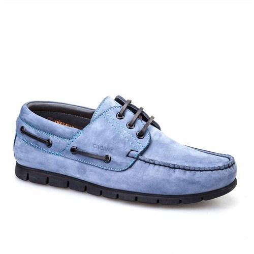 Cabani Marin Tekne Günlük Erkek Ayakkabı Mavi Nubuk