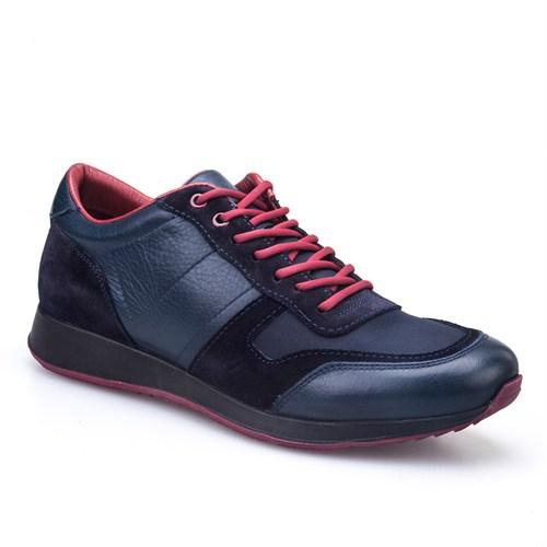 Cabani Bağcıklı Günlük Erkek Ayakkabı Lacivert Nata Deri