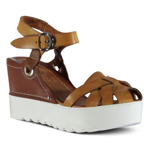 Marjin Milaya Dolgu Sandalet Camel