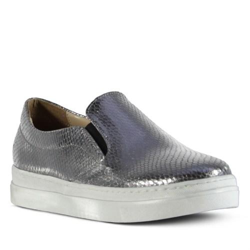Marjin Alesso Slipper Spor Ayakkabı Platin Yılan