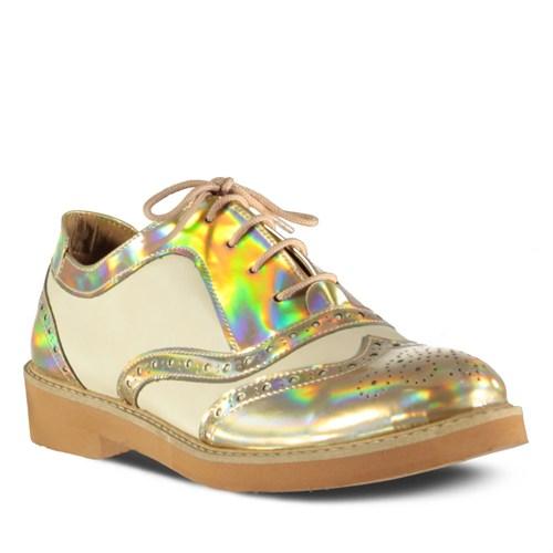 Marjin Rodas Düz Ayakkabı Altın