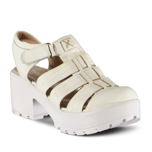 Marjin Gover Topuklu Ayakkabı Beyaz