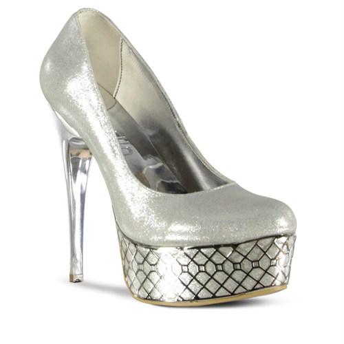 Marjin Cesar Platform Ayakkabı Gümüş