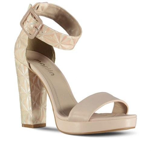 Marjin Gela Topuklu Ayakkabı Bej