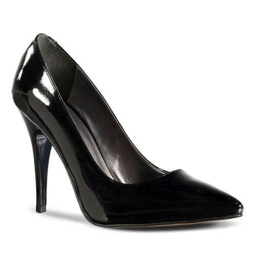 Marjin Siyso Topuklu Ayakkabı Siyah Rugan