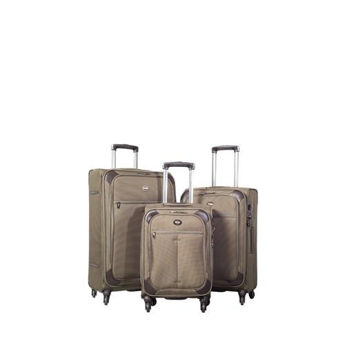 Verage Kumaş Valiz Vrg12051-Set-Haki Haki