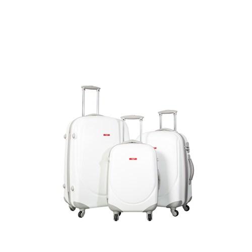 Ççs Kumaş Valiz Ççs5105-Set-Beyaz Beyaz