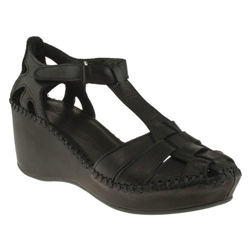 La Pinta 270 418-42Z Siyah Sandalet