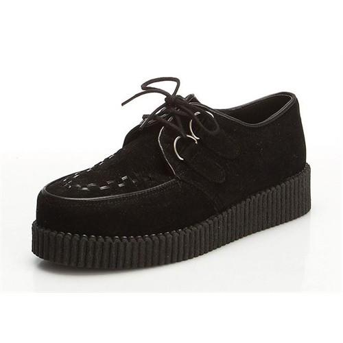 Köstebek Creepers Ayakkabı Siyah