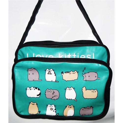Köstebek I Love Kitties Çanta