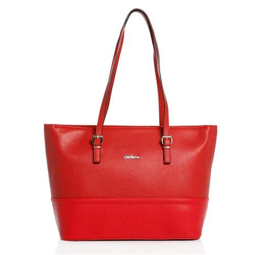 Esta Rubon 40014 Kırmızı Kırmızı Kadın Omuz Çantası