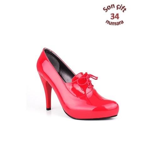 Loggalin 152033 031 559 Kadın Kırmızı Platform Ayakkabı