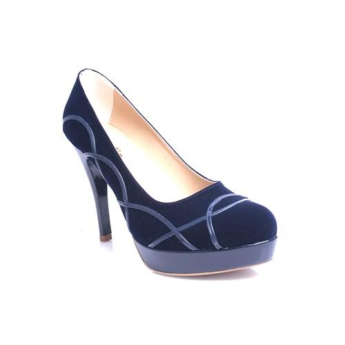 Loggalin 580505 031 427 Kadın Lacivert Platform Ayakkabı