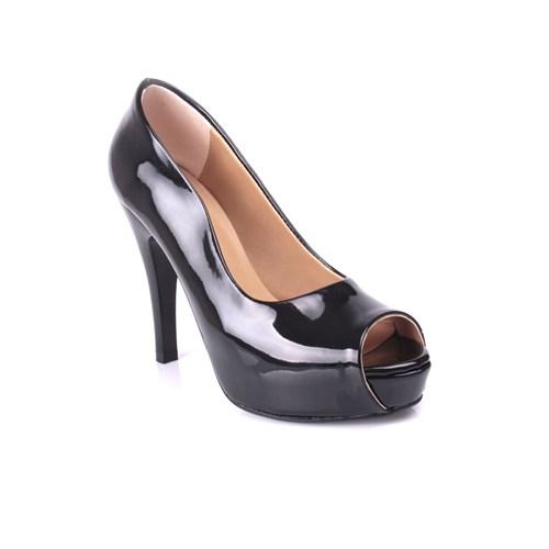 Loggalin 580601 031 020 Kadın Siyah Rugan Platform Ayakkabı