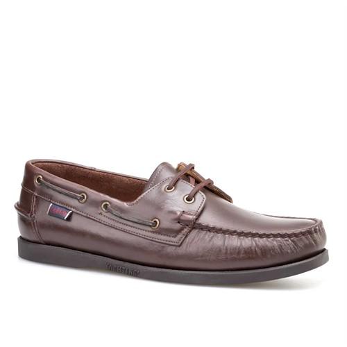 Cabani Marin Tekne Günlük Erkek Ayakkabı Kahverengi Deri