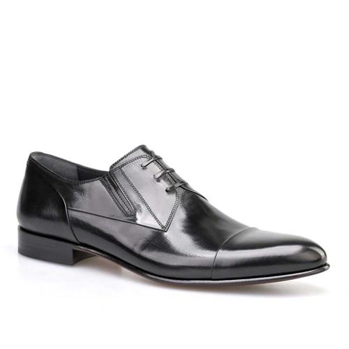 Cabani Lastikli Klasik Erkek Ayakkabı Siyah Buffalo Deri